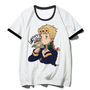JoJo's Bizarre Adventure - Giorno Giovanna x Diego Brando Chibi T-shirt-jojo Jojo's Bizarre Adventure Merch