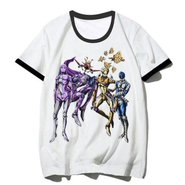 JoJo's Bizarre Adventure - Golden Wind Team Bucciarati Stands T-shirt-jojo Jojo's Bizarre Adventure Merch