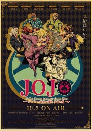 JoJo's Bizarre Adventure - Golden Wind Anime Poster Jojo's Bizarre Adventure Merch