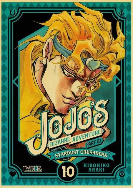 JoJo's Bizarre Adventure - Stardust Crusaders Dio Brando Face Poster Jojo's Bizarre Adventure Merch