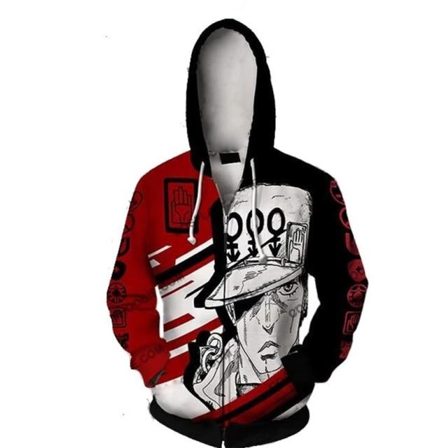 Anime Jojo Bizarre Adventure Hoodie Sweatshirt Kira Yoshikage GUIDO MISTA Cosplay Costume Jojo Hood Hoodies Casual 6.jpg 640x640 6 - Jojo's Bizarre Adventure Merch