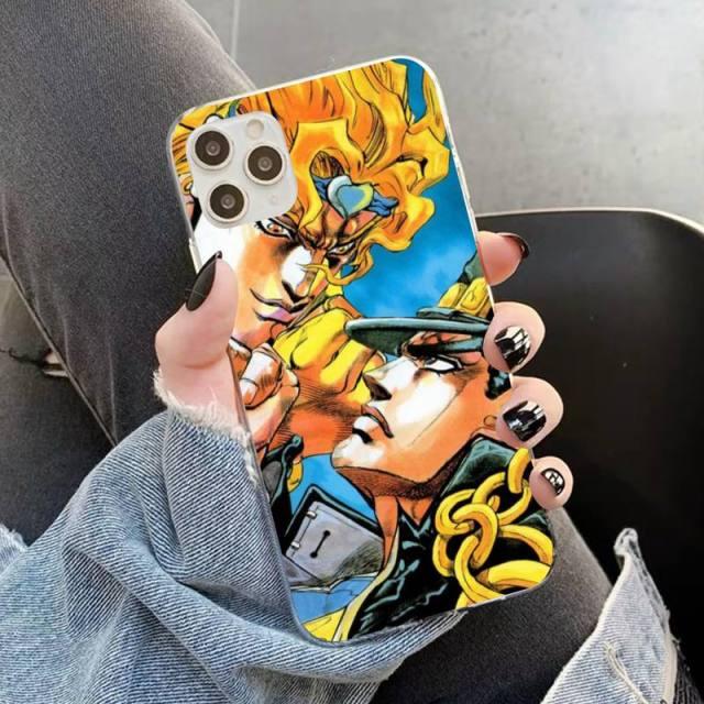 YNDFCNB JOJO S BIZARRE ADVENTURE OVER HEAVEN JoJo Anime Phone Case for iPhone 11 12 pro 10.jpg 640x640 10 - Jojo's Bizarre Adventure Merch