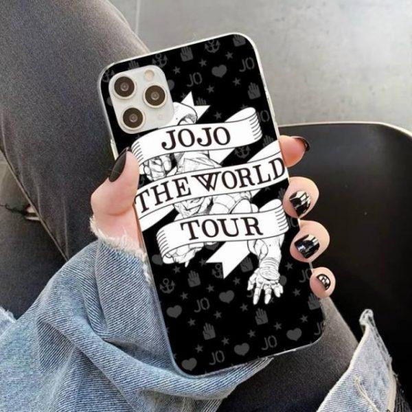 YNDFCNB JOJO S BIZARRE ADVENTURE OVER HEAVEN JoJo Anime Phone Case for iPhone 11 12 pro 14.jpg 640x640 14 - Jojo's Bizarre Adventure Merch