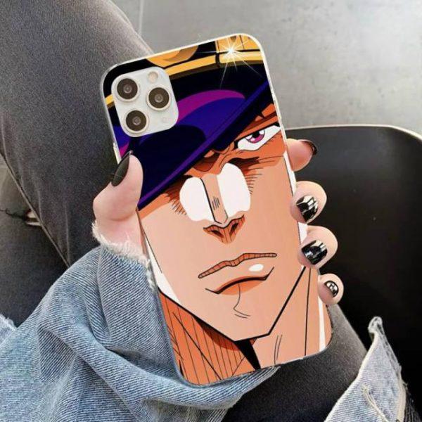 YNDFCNB JOJO S BIZARRE ADVENTURE OVER HEAVEN JoJo Anime Phone Case for iPhone 11 12 pro 3.jpg 640x640 3 - Jojo's Bizarre Adventure Merch