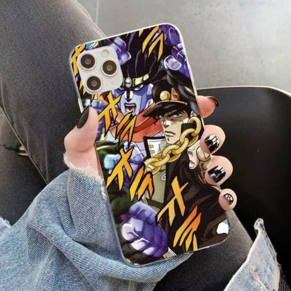YNDFCNB JOJO S BIZARRE ADVENTURE OVER HEAVEN JoJo Anime Phone Case for iPhone 11 12 pro 4.jpg 640x640 4 - Jojo's Bizarre Adventure Merch