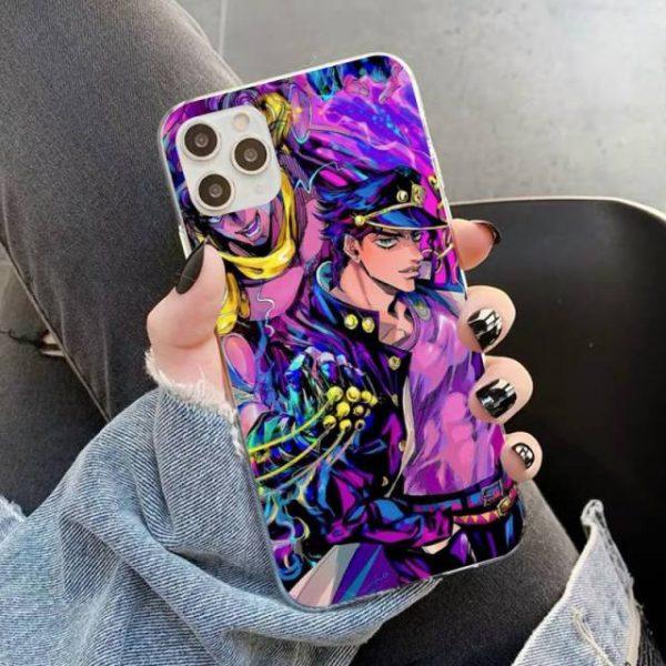 YNDFCNB JOJO S BIZARRE ADVENTURE OVER HEAVEN JoJo Anime Phone Case for iPhone 11 12 pro 5.jpg 640x640 5 - Jojo's Bizarre Adventure Merch