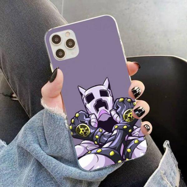 YNDFCNB JOJO S BIZARRE ADVENTURE OVER HEAVEN JoJo Anime Phone Case for iPhone 11 12 pro 6.jpg 640x640 6 - Jojo's Bizarre Adventure Merch