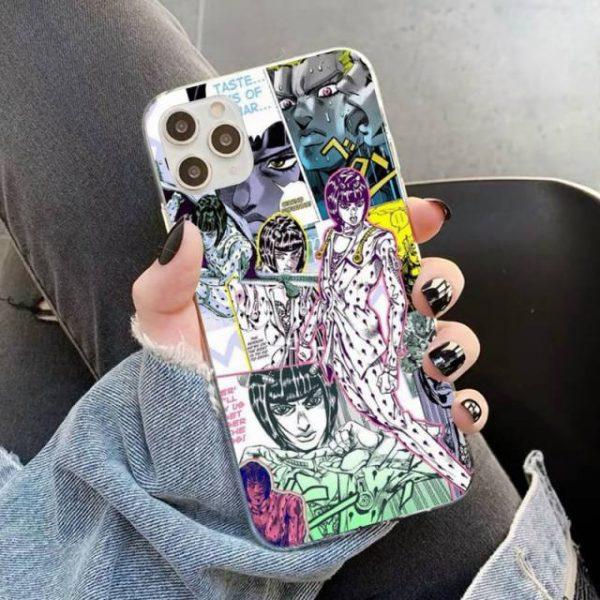 YNDFCNB JOJO S BIZARRE ADVENTURE OVER HEAVEN JoJo Anime Phone Case for iPhone 11 12 pro 8.jpg 640x640 8 - Jojo's Bizarre Adventure Merch